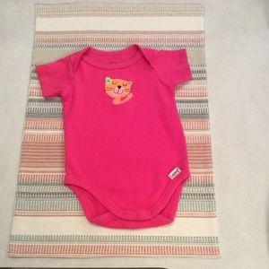 Lamaze pink onesie. Size 0-3M.